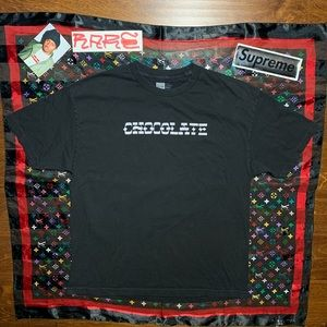 CHOCOLATE Skateboards SpellOut Logo Black Shirt 🍫
